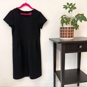 NWOT Lands End girls black ponte dress size 12